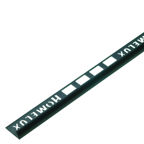 12.5mm Black Round Edge Metal Tile Trim 2.5m