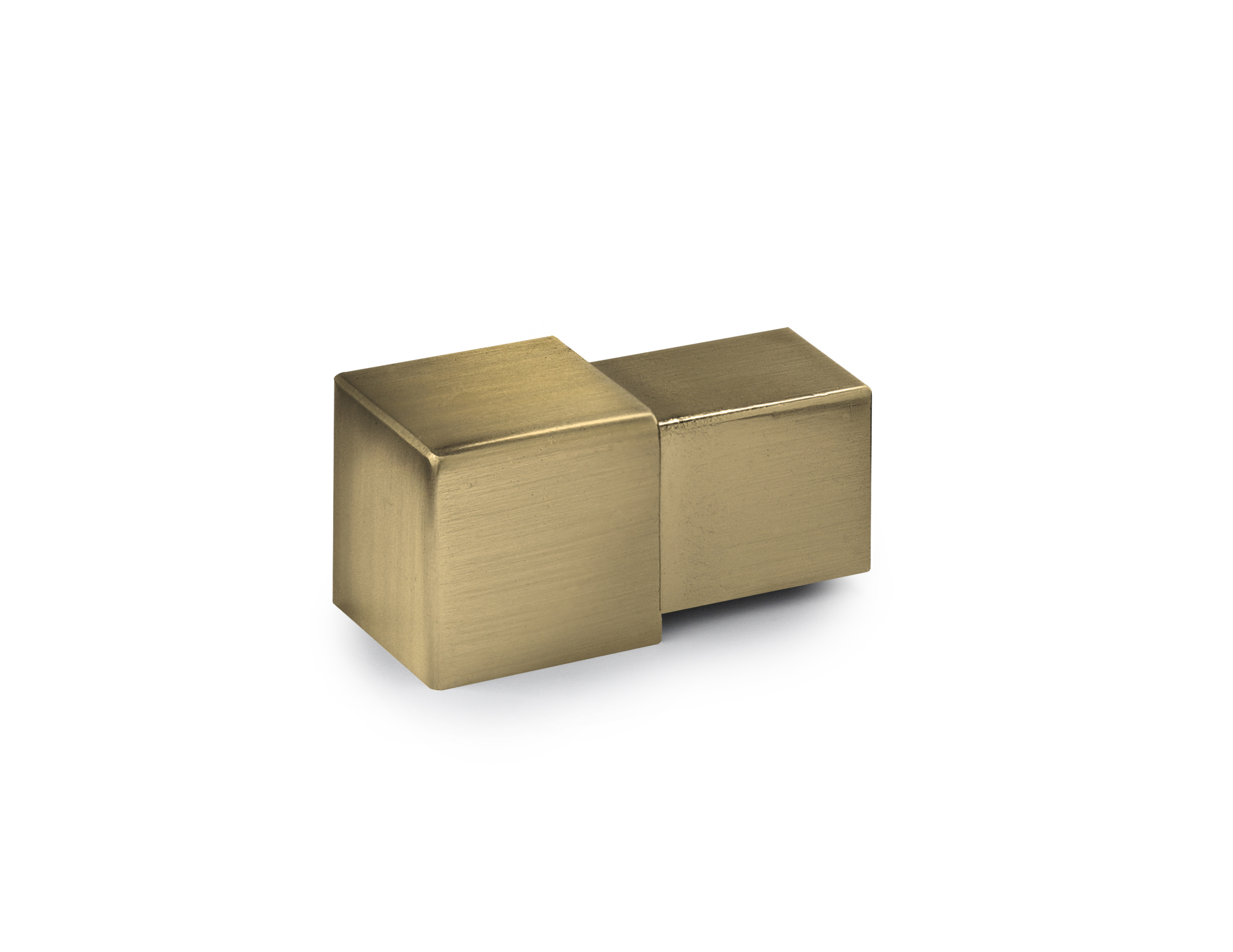 12.5mm Brushed Gold Square Edge Corner 2pk