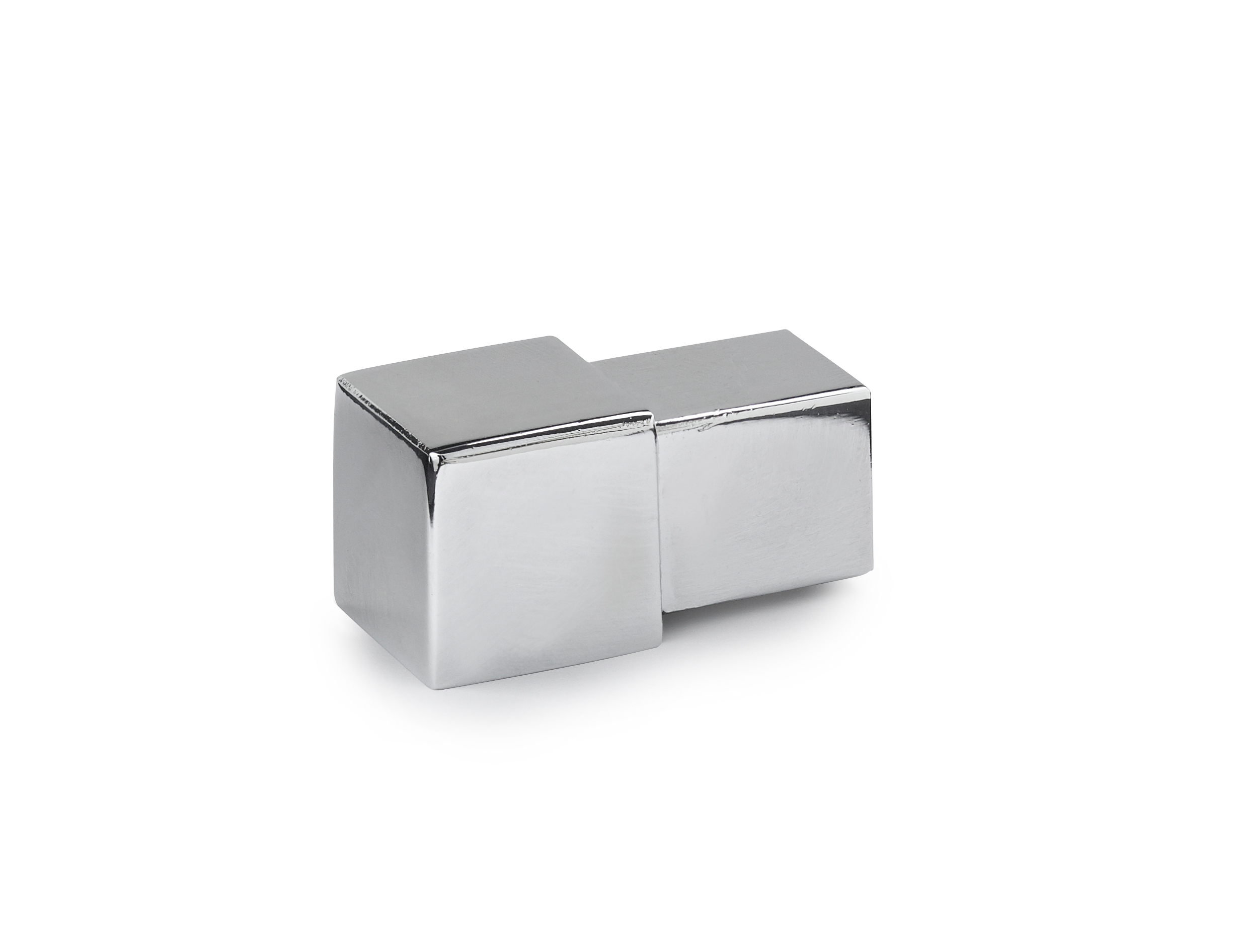 9mm Silver Effect Square Edge Corner 2pk