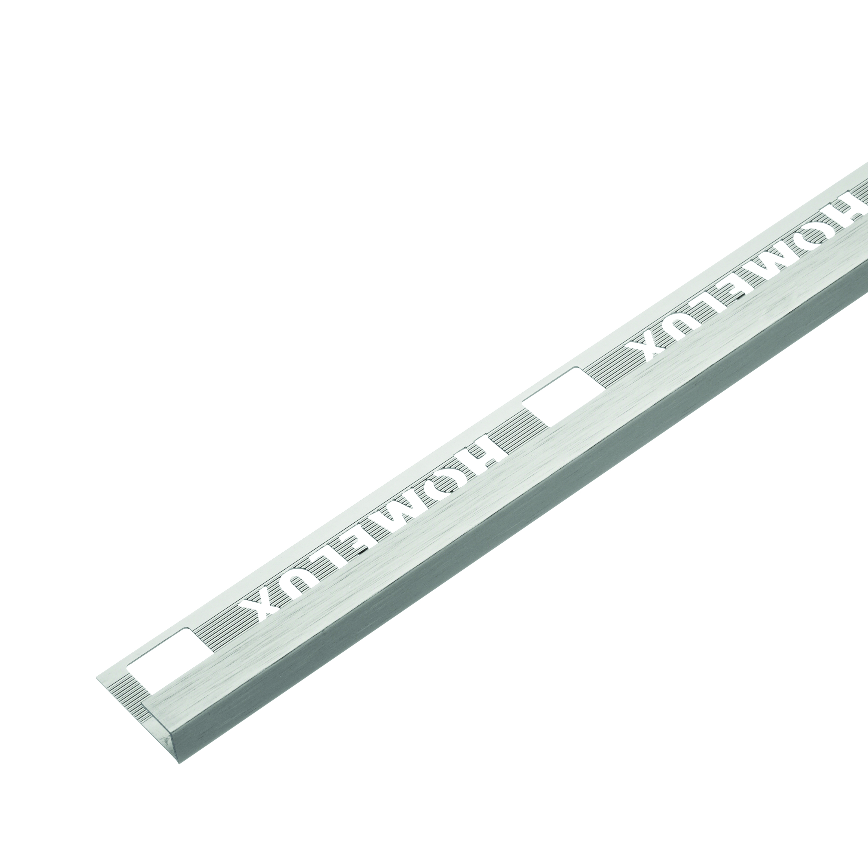 12.5mm Stainless Steel Effect Metal Square Edge 2.5m