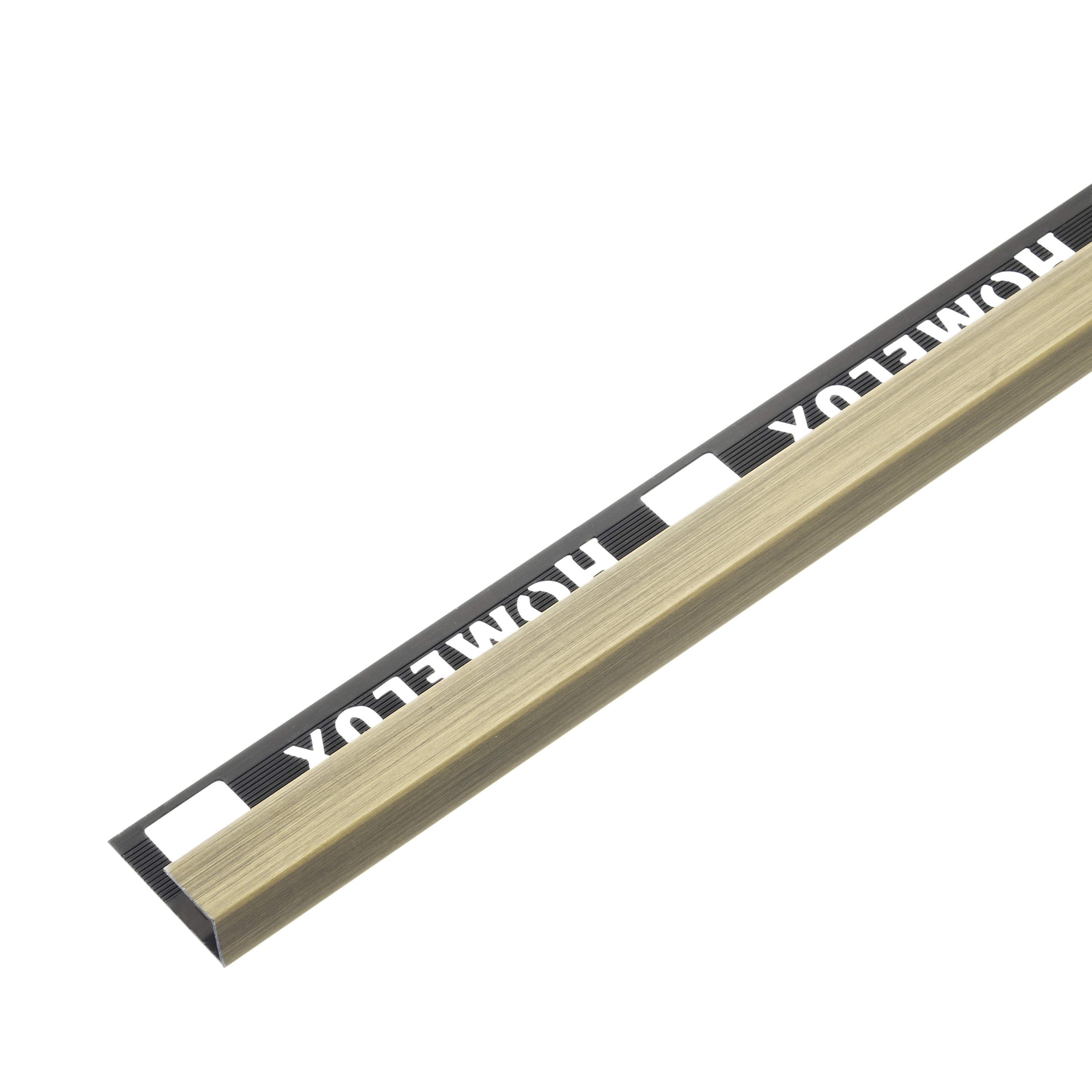 9mm Brushed Gold Effect Metal Square Edge 2.5m