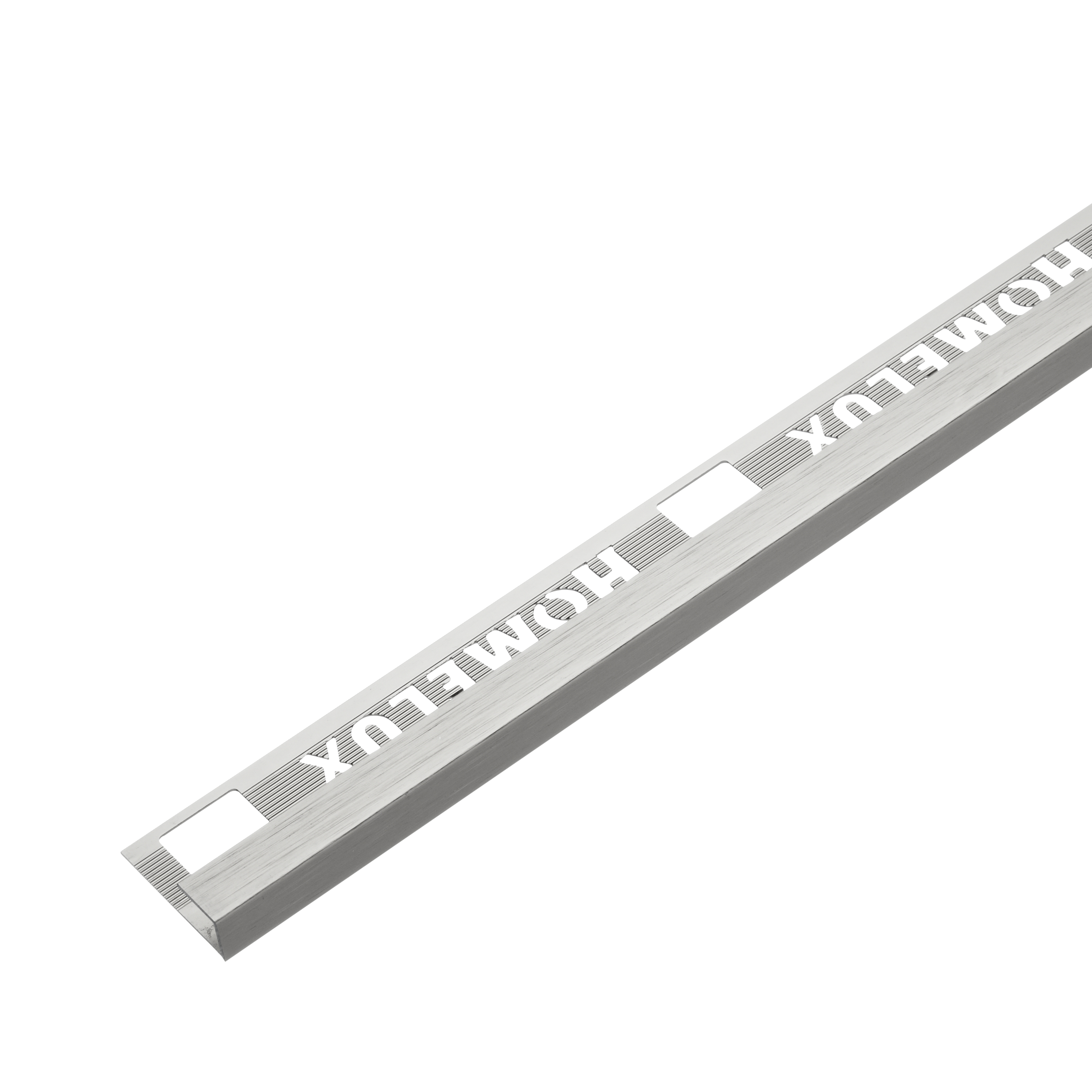 9mm Stainless Steel Effect Metal Square Edge 2.5m