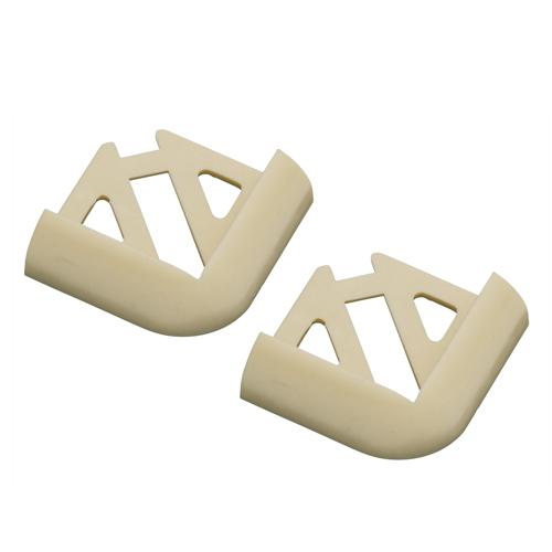 6mm Soft Cream Round Edge PVC Tile Trim Corners