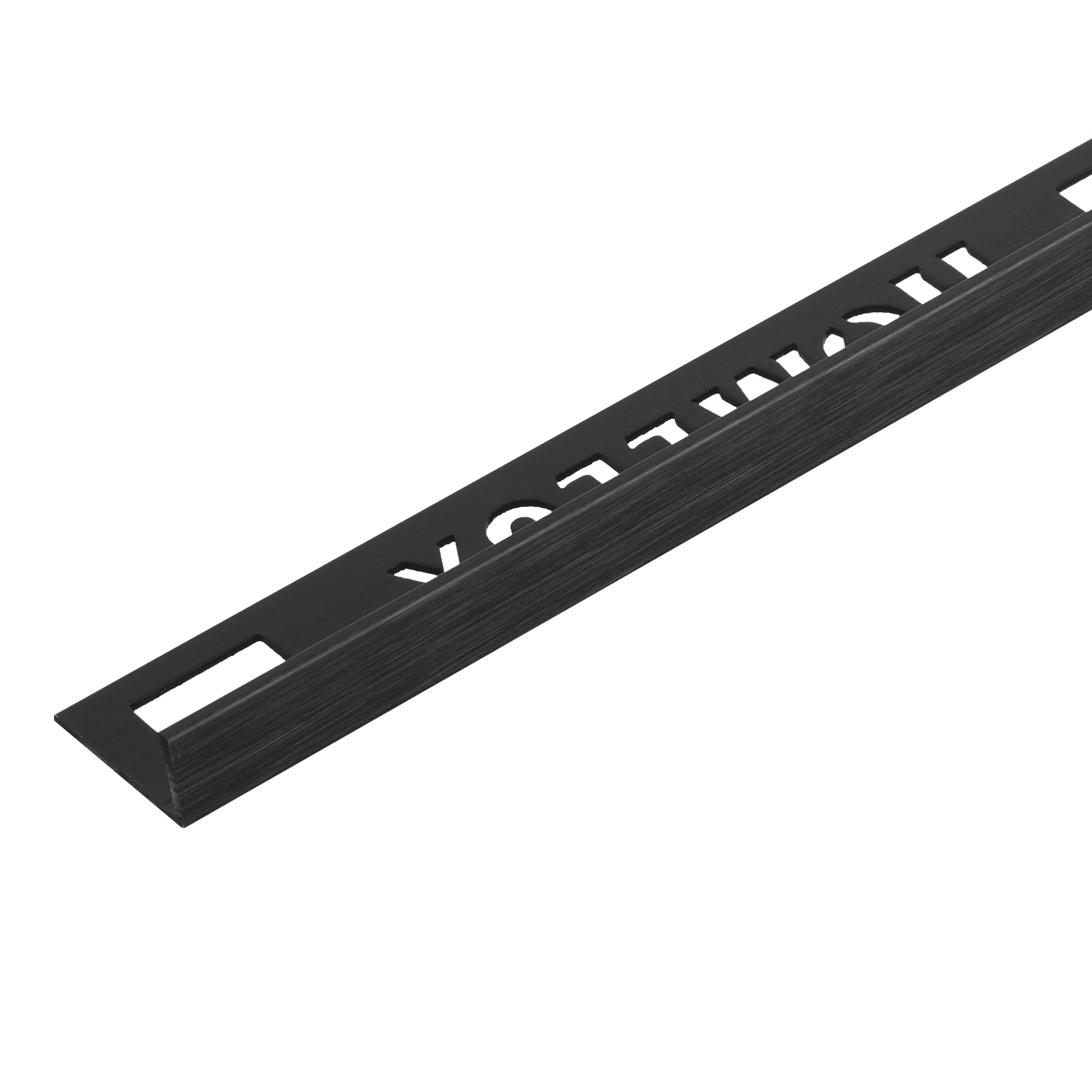 10mm Brushed Black Straight Edge Metal Tile Trim 1.83m