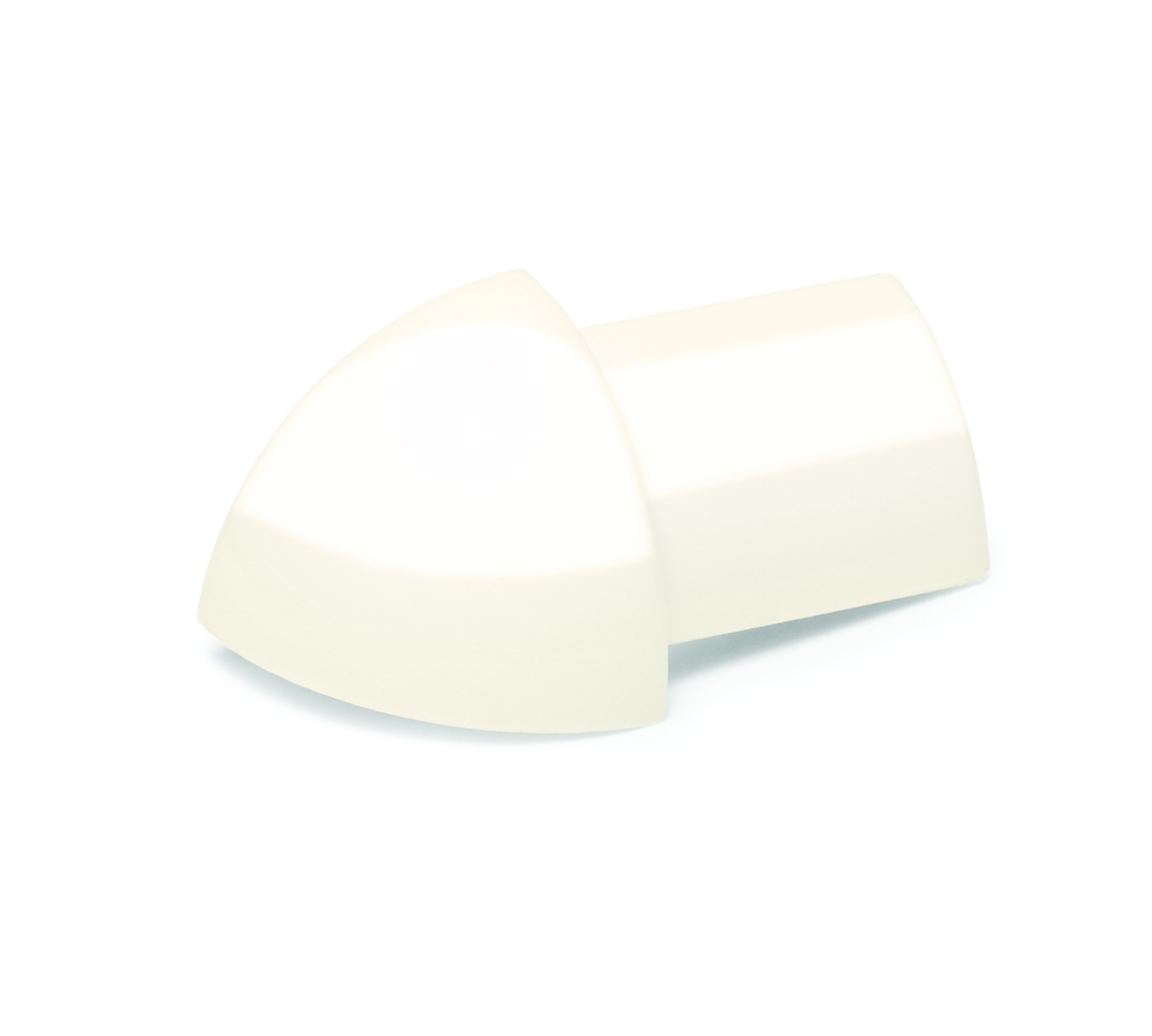 6mm Soft Cream Supergloss PVC Quadrant Corners