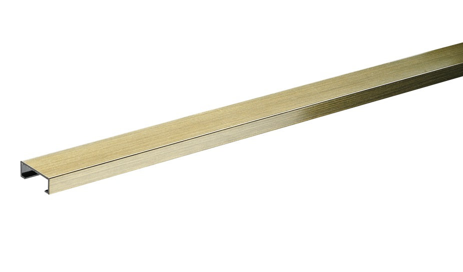 20mm Brushed Gold Effect Wide Tilestrip 1.83m