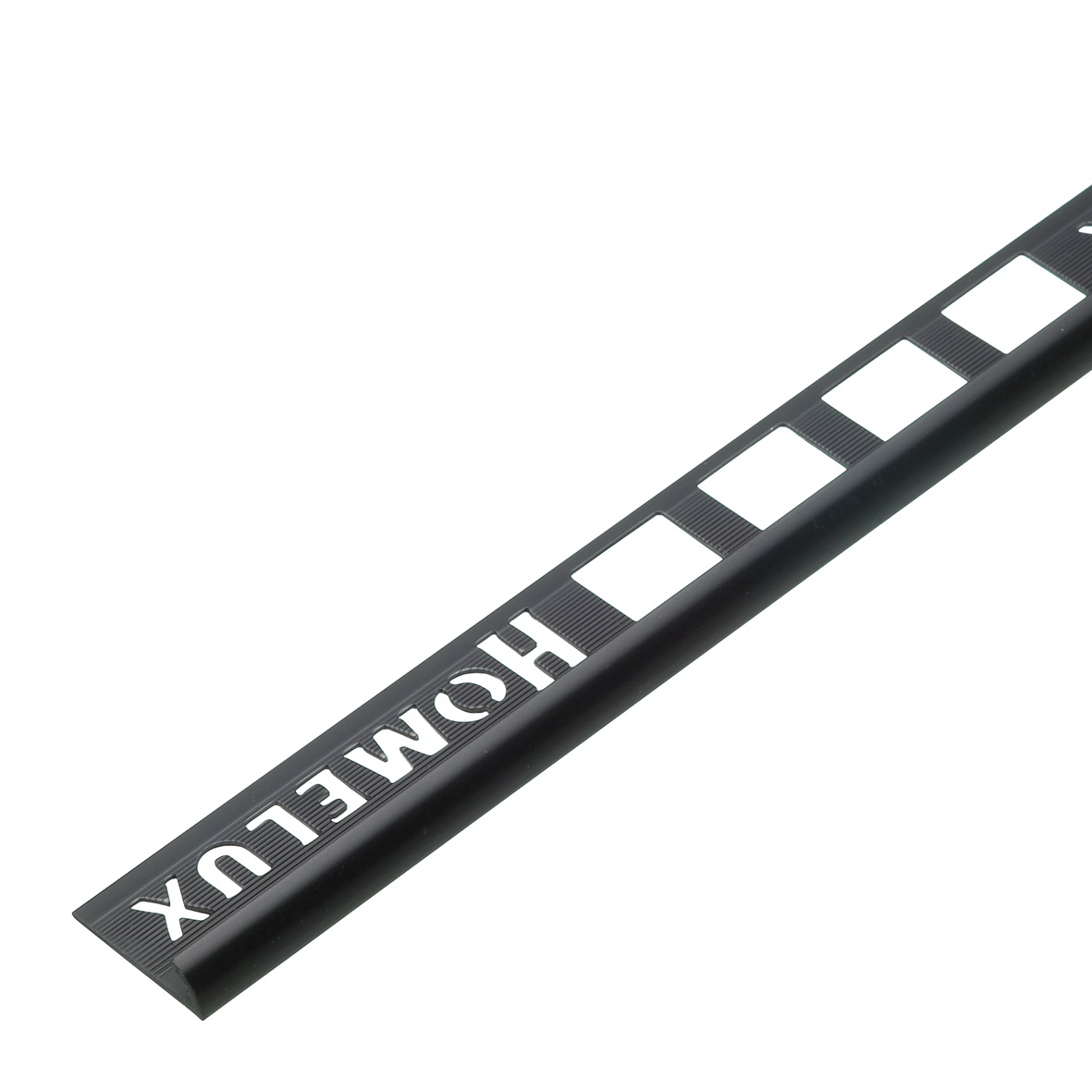 6mm Black Round Edge PVC Tile Trim 1.83m