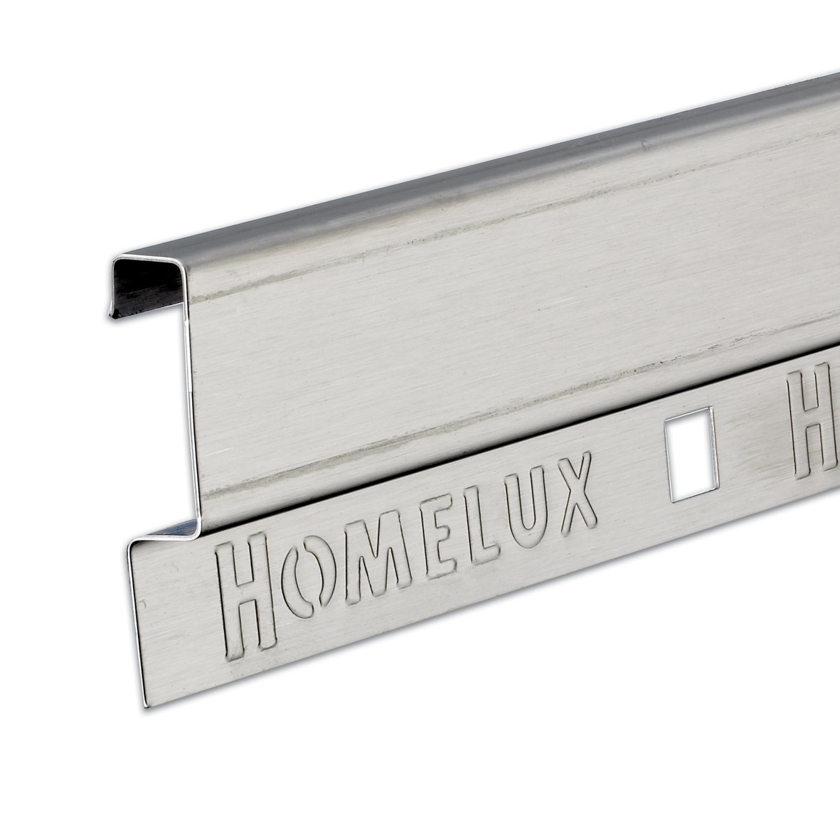32mm Stainless Steel Effect Wide Tilestrip 1.83m