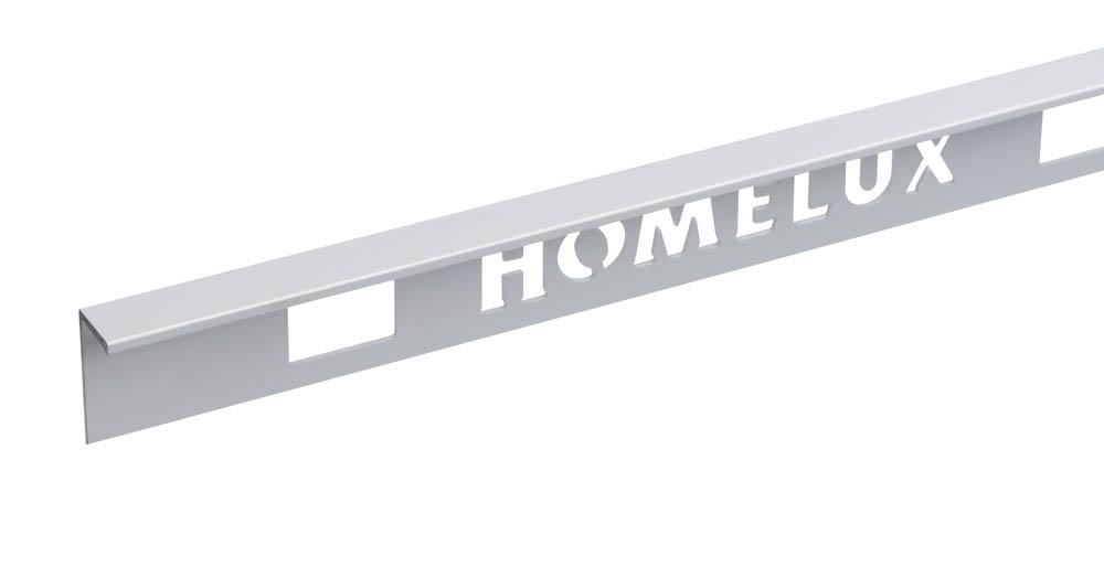 Silver Straight Edge Floor Trim 10mm