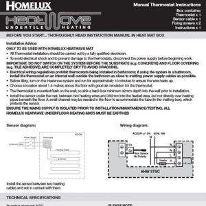 Heatwave Undertile Heating | Homelux on