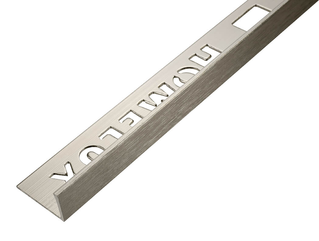10mm Champagne Metal Straight Edge Tile Trim 2.5m