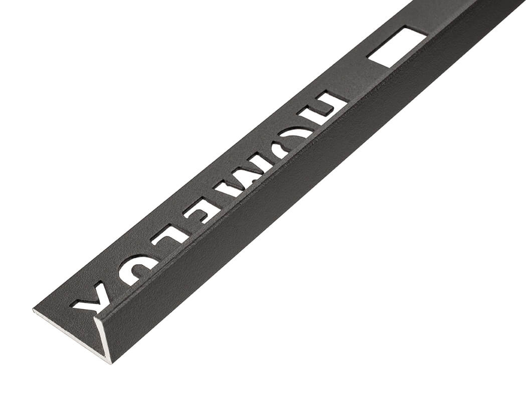 10mm Carbon Metal Straight Edge Tile Trim 2.5m
