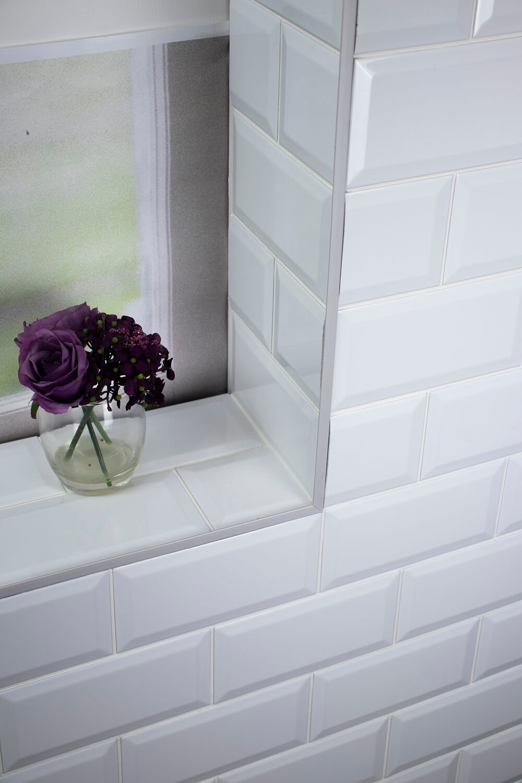 8mm Grey Straight Edge PVC Tile Trim 2.5m